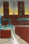 Burg Neuenburg, 150 x 100 cm, 2012 | Acrylfarbe auf Nessel