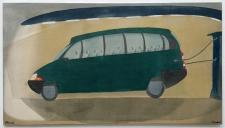 Busstop, 70 x 125 cm, 2014 | Acrylfarbe auf Nessel