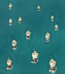 Ships (Wandbild), 40 x 50 cm,2011 | Acrylfarbe auf Nessel